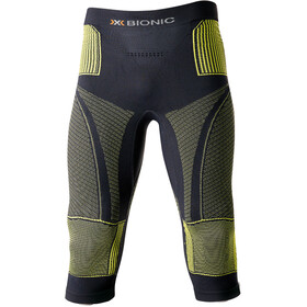 X-Bionic Accumulator Evo Pantaloni Uomo, charcoal/yellow